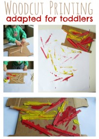 woodcut printing for toddlers 1