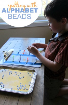 Spell with Alphabet Beads and Build Fine Motor Skills