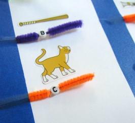 alphabet bead spelling 4