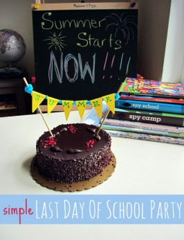 Last Day Of School Party & DIY