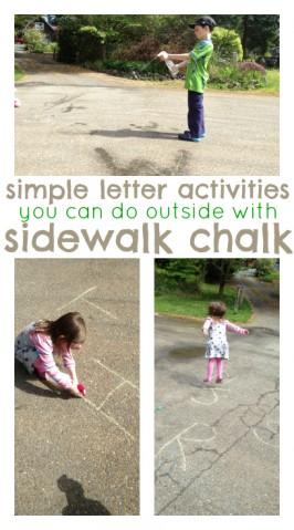Sidewalk Chalk – 4 Letter Activities
