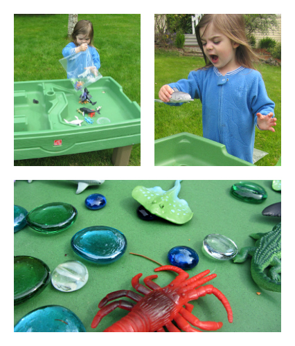 ocean sensory bin set up