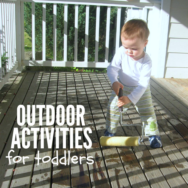 10 outdoor activities for toddlers