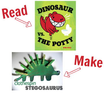 craft for dinosaur vs the potty