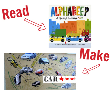 alphabet craft with cars