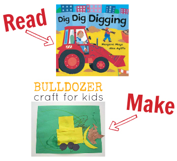 bulldozer books and craft