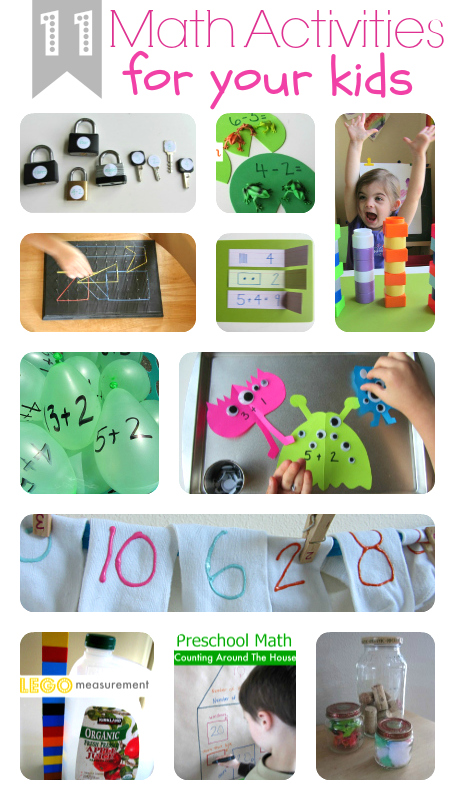 11 Fun Math Activities For Kids No Time For Flash Cards