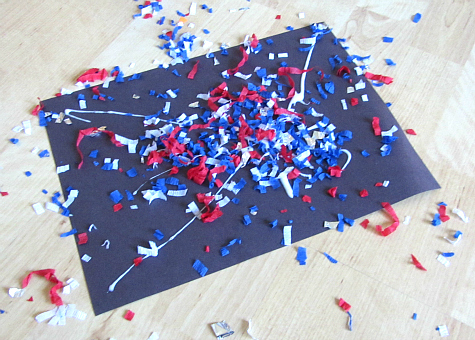 Boom Fireworks 4th of july craft