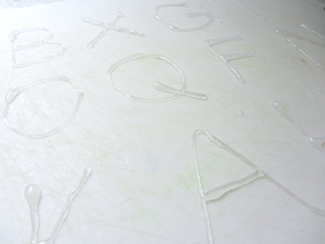 DIY Letter Rubbing Board for kids