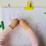 DIY Letter Tracing board for preschool