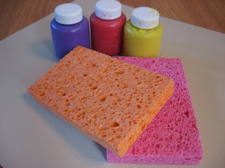 Sponge painting for toddlers no time for flash cards for Sponge painting for kids pictures