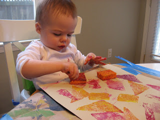 Art Painting With Sponges For Toddlers