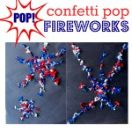 4th of July Craft { Confetti Pop Fireworks }