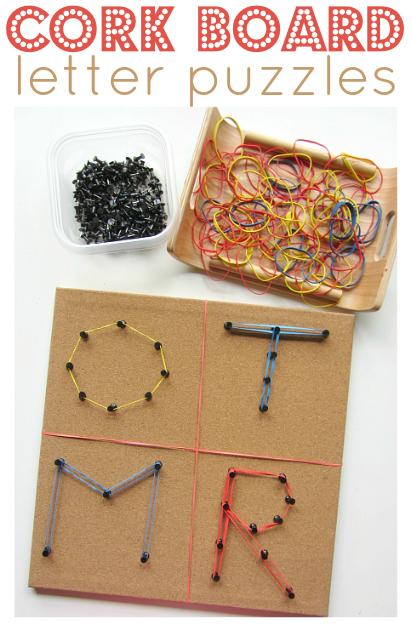 cork board letter puzzles