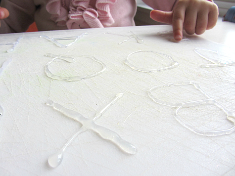 diy letter board rubbing letter tracing