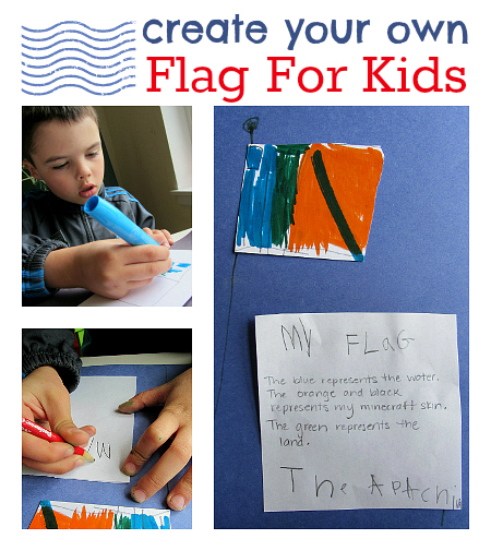 make your own flag craft no time for flash cards