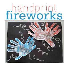 handprint fireworks 4th of july