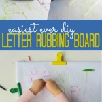 Easy Letter Rubbings Board