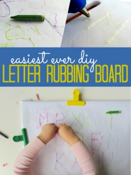 how to make a letter rubbing board