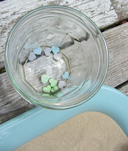 mod podge melts sea glass counting activity