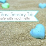 Sea Glass Sensory Tub { safe for little hands }