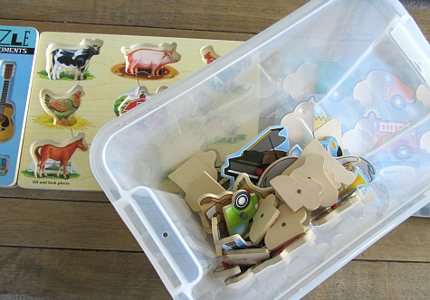 rainy day puzzle hunt activity for kids