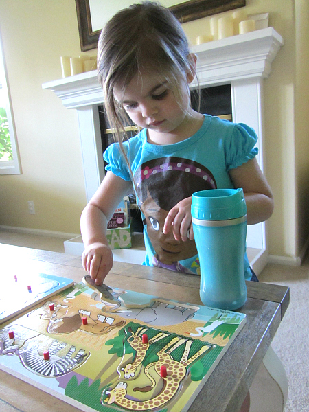rainy day puzzle hunt for toddlers