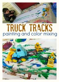 truck tracks painting