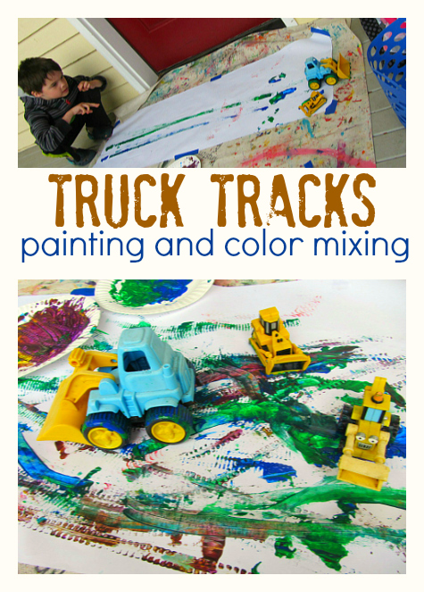 truck tracks painting