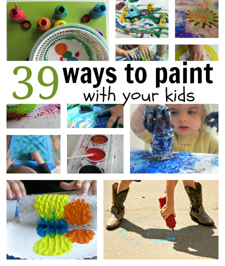 39 painting activities for kids no time for flash cards Fun painting ideas for toddlers