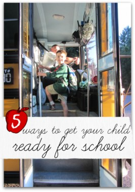 5 ways to get your kids ready for school