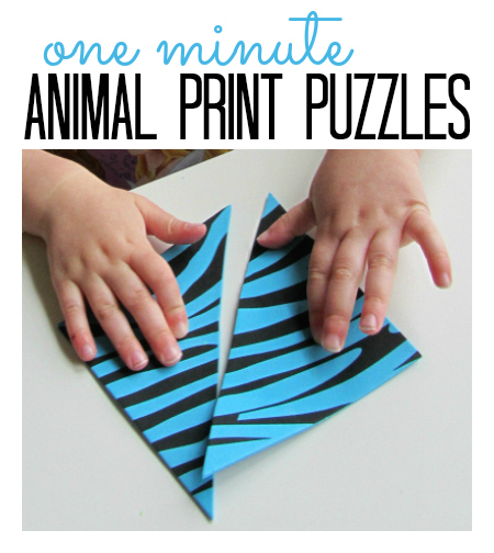 animal print puzzles for kids