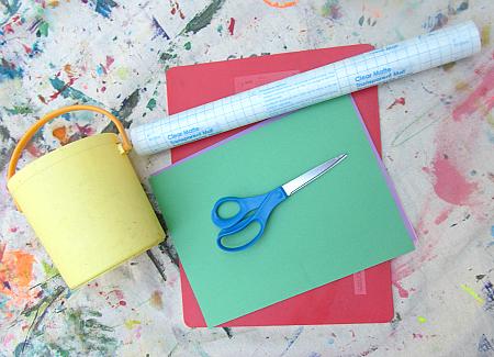 flower petal placemat summer craft for kids