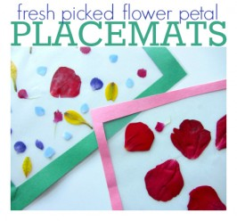 fresh picked flower petal placemats craft