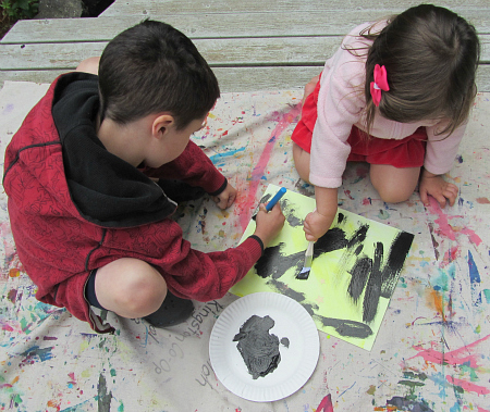 glow in the dark star paintings craft for kids