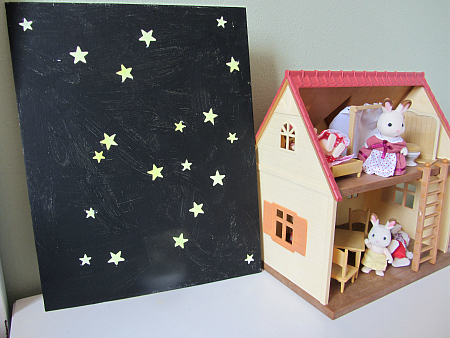 glow in the dark star paintings easy craft for kids