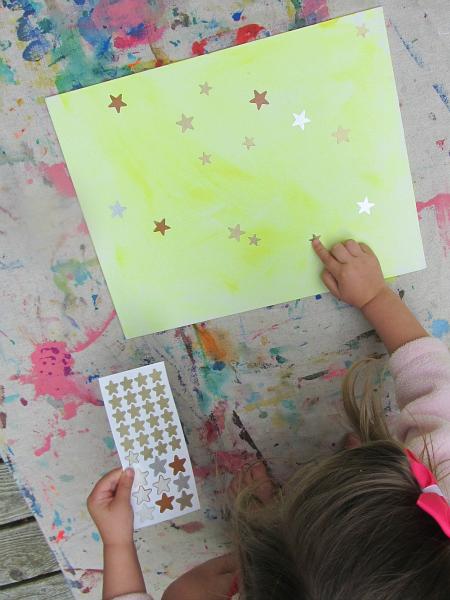 ... glow in the dark star sticker reisist & Glow In The Dark Stars Craft - No Time For Flash Cards