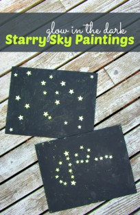 glow in the dark starry sky paintings