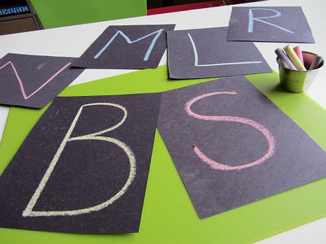 letter constellation craft for kids