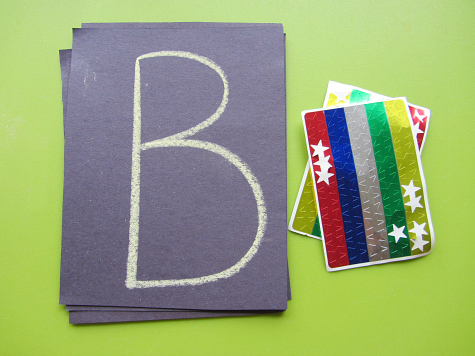 letter constellation craft for kids learning abcs