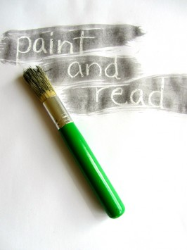 Paint & Read { and sound it out }