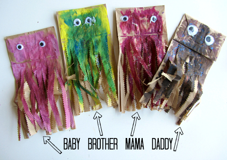 Paper Bag Jellyfish Craft And Color Mixing Too No Time