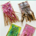 Paper Bag Jellyfish Craft (and color mixing too)