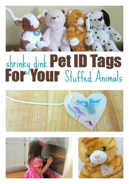 Shrinky Dink Pet ID Tags For Stuffed Animals No Time