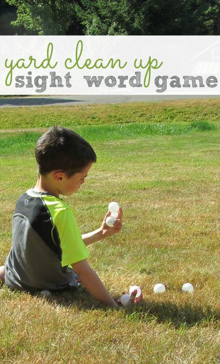 sight word gross motor game for kids