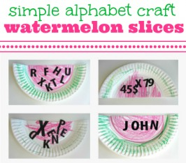 Letter Watermelons { Summer Alphabet Craft }