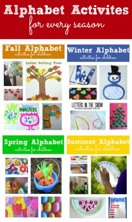 Alphabet Activities for every season preschool lesson ...