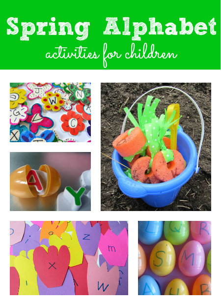 Spring Alphabet activities for kids