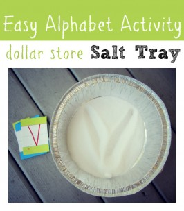 Dollar Store Salt Tray { Alphabet Activity }