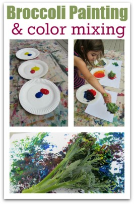 Broccoli Painting and Color Mixing